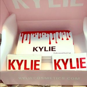 Kylie's cosmetics valentine eyeshadow & brush set.